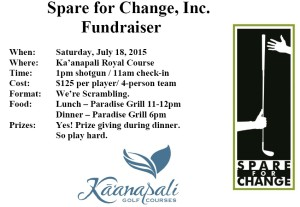 spare for change tournament 2015